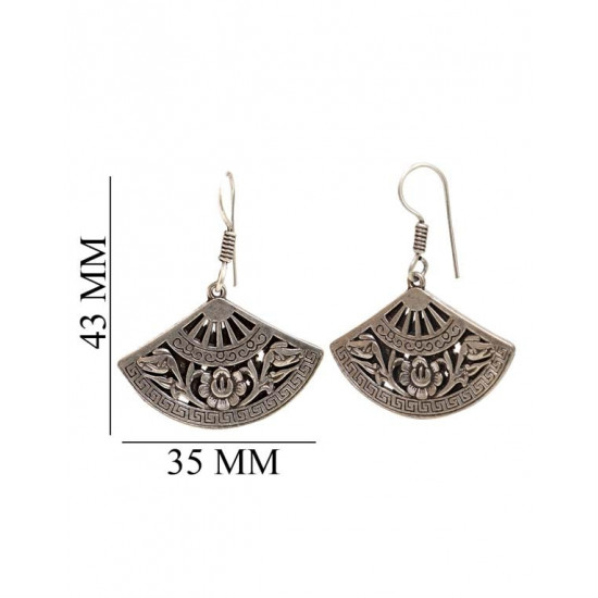 Good looking pair of Earrings in Silver Alloy High Finish for Women and Girls Stylish Latest Tribal Boho Look Birthday Anniversary  Gift for Mother Bhabhi Wife Sister Friend