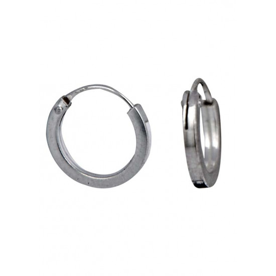 Square pipe 1.5 mm thickness and 8 mm diameter Pure 92.5 Sterling Silver Hoop Earrings For Women and Girls Wife Mother Sister Friend Bhabhi Rakhi Valentine Anniversary Gift Stylish Latest