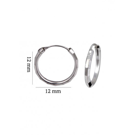 Light weighted engrave cutting 2 mm thickness and 12 mm diameter Pure 92.5 Sterling Silver Hoop Earrings For Women and Girls Wife Mother Sister Friend Bhabhi Rakhi Valentine Anniversary Gift Stylish Latest