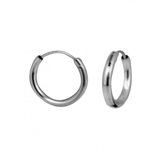Light weighted round pipe 2 mm thickness and 12 mm diameter Pure 92.5 Sterling Silver Hoop Earrings For Women and Girls Wife Mother Sister Friend Bhabhi Rakhi Valentine Anniversary Gift Stylish Latest