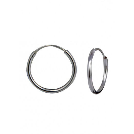 Light weighted round pipe 2 mm thickness and 16 mm diameter Pure 92.5 Sterling Silver Hoop Earrings For Women and Girls Wife Mother Sister Friend Bhabhi Rakhi Valentine Anniversary Gift Stylish Latest