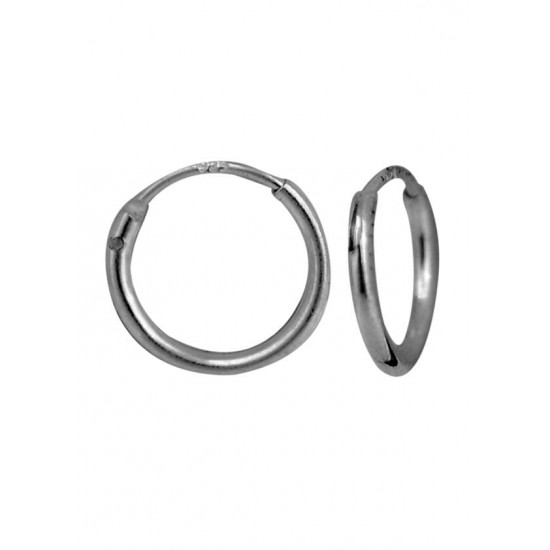 Light weighted round pipe 1 mm thickness and 8 mm diameter Pure 92.5 Sterling Silver Hoop Earrings For Women and Girls Wife Mother Sister Friend Bhabhi Rakhi Valentine Anniversary Gift Stylish Latest
