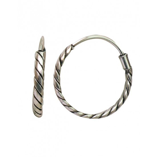 Trendy 9 mm Pure 92.5 Sterling Silver Oxidized Hoops Balis For Women and Girls Wife Mother Sister Friend Bhabhi Rakhi Valentine Anniversary Gift Stylish Latest