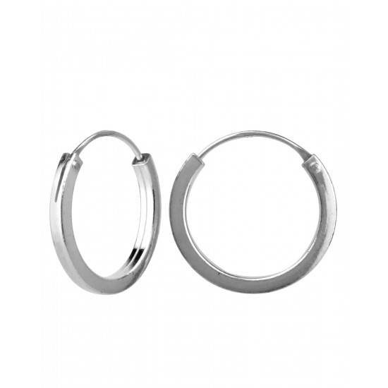 12 mm Square pipe Pure 92.5 Sterling Silver Hoop Earrings For Women and Girls Wife Mother Sister Friend Bhabhi Rakhi Valentine Anniversary Gift Stylish Latest