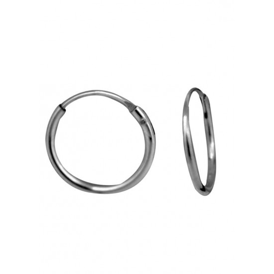 Light weighted round pipe 1 mm thickness and 10 mm diameter Pure 92.5 Sterling Silver Hoop Earrings For Women and Girls Wife Mother Sister Friend Bhabhi Rakhi Valentine Anniversary Gift Stylish Latest