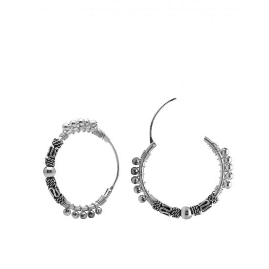 Abhooshan Designer Pure 92.5 Sterling Silver Hoops Balis For Women and Girls Wife Mother Sister Friend Bhabhi Rakhi Valentine Anniversary Gift Stylish Latest…