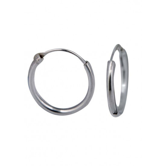 Very light weighted round pipe 1 mm thickness and 12 mm diameter Pure 92.5 Sterling Silver Hoop Earrings For Women and Girls Wife Mother Sister Friend Bhabhi Rakhi Valentine Anniversary Gift Stylish Latest