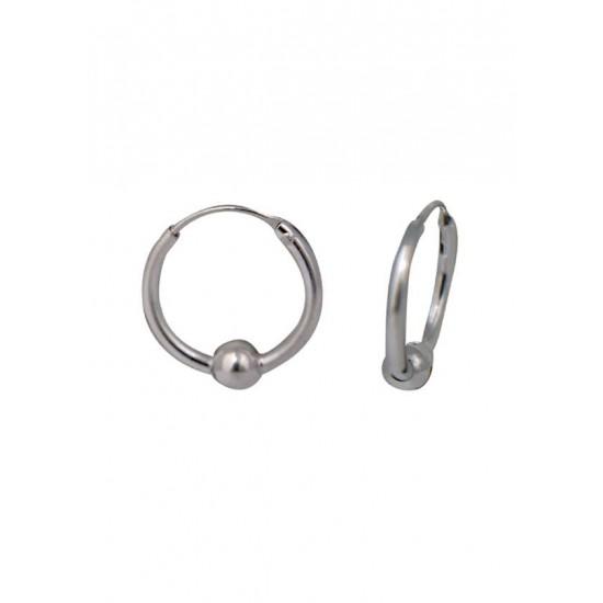 11 mm diameter Pure 92.5 Sterling Silver Hoop Earrings For Women and Girls Wife Mother Sister Friend Bhabhi Rakhi Valentine Anniversary Gift Stylish Latest