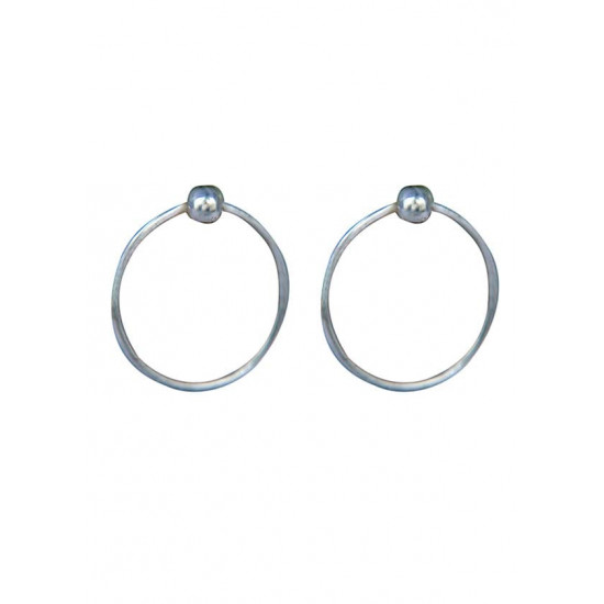 Very light weighted 925 silver wire hoops diameter 12 mm Piercing jewellery for Septum Tragus Counch Helix Nose Ear Lobe