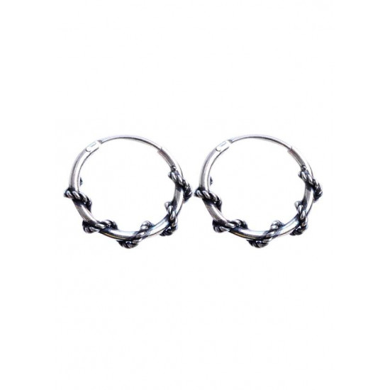 Oxidized 10 mm Pure 92.5 Sterling Silver Hoop Earrings For Women and Girls Wife Mother Sister Friend Bhabhi Rakhi Valentine Anniversary Gift Stylish Latest