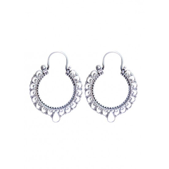 Pure 92.5 Sterling Silver Hoop Earrings For Women and Girls Wife Mother Sister Friend Bhabhi Rakhi Valentine Anniversary Gift Stylish Latest