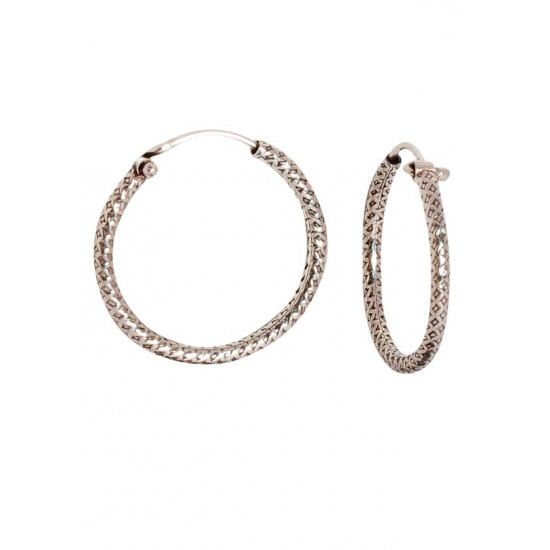 Trendy and Daily Wear Self Design Hoops Pure 92.5 Sterling Silver Hoop Earrings For Women and Girls Wife Mother Sister Friend Bhabhi Rakhi Valentine Anniversary Gift Stylish Latest…