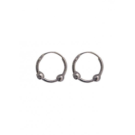 Light weighted Pure 92.5 Sterling Silver Hoop Earrings For Women and Girls Wife Mother Sister Friend Bhabhi Rakhi Valentine Anniversary Gift Stylish Latest