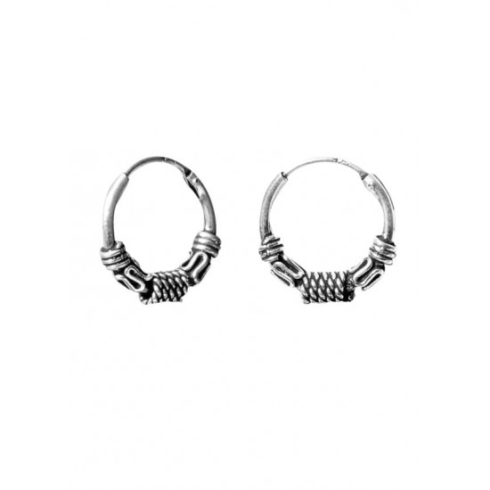 Adorable 10 mm Pure 92.5 Sterling Silver Oxidized Hoops Balis For Women and Girls Wife Mother Sister Friend Bhabhi Rakhi Valentine Anniversary Gift Stylish Latest