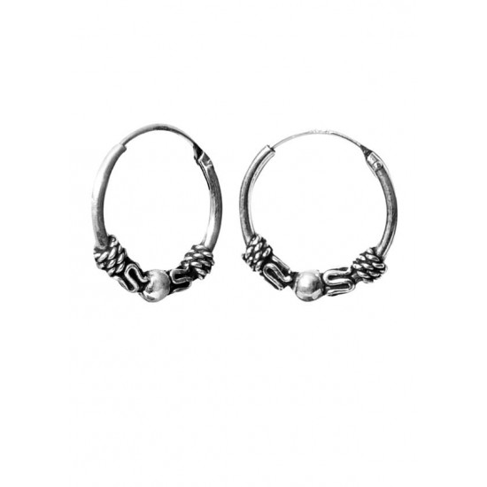 Good looking 12 mm Pure 92.5 Sterling Silver Oxidized Hoops Balis For Women and Girls Wife Mother Sister Friend Bhabhi Rakhi Valentine Anniversary Gift Stylish Latest