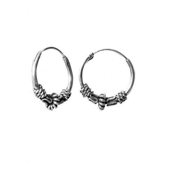 Cute 12 mm Pure 92.5 Sterling Silver Oxidized Hoops Balis For Women and Girls Wife Mother Sister Friend Bhabhi Rakhi Valentine Anniversary Gift Stylish Latest
