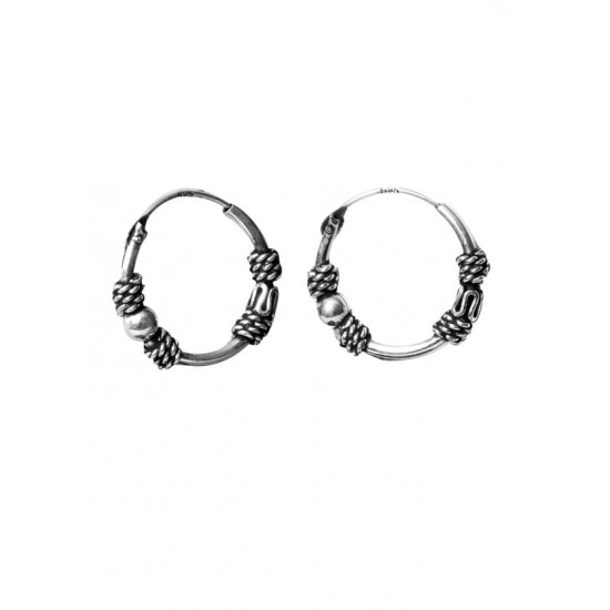 Trendy look 12 mm Pure 92.5 Sterling Silver Oxidized Hoops Balis For Women and Girls Wife Mother Sister Friend Bhabhi Rakhi Valentine Anniversary Gift Stylish Latest