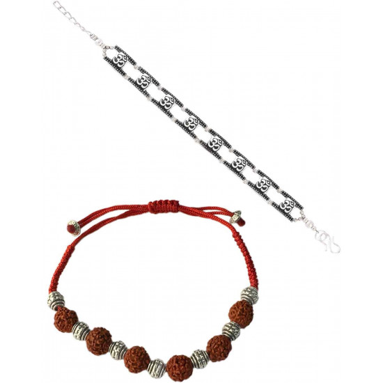 Abhooshan Unique Rakhi Combo Set for Brother/Bhaiya and Bhabhi in Silver Alloy Gift Stylish latest