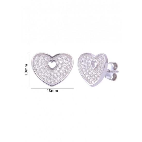 Good looking heart shape Cz studs