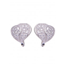 Pair of Heart Shape Cubic Zircon Studs