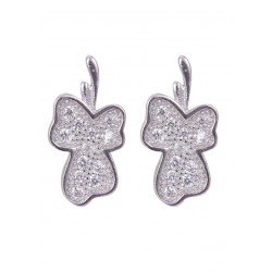 Pair of Leaf Shape Cubic Zircon Studs