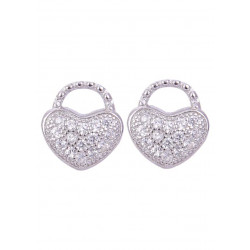 Pair of Cute Heart Shape Cubic Zircon Studs