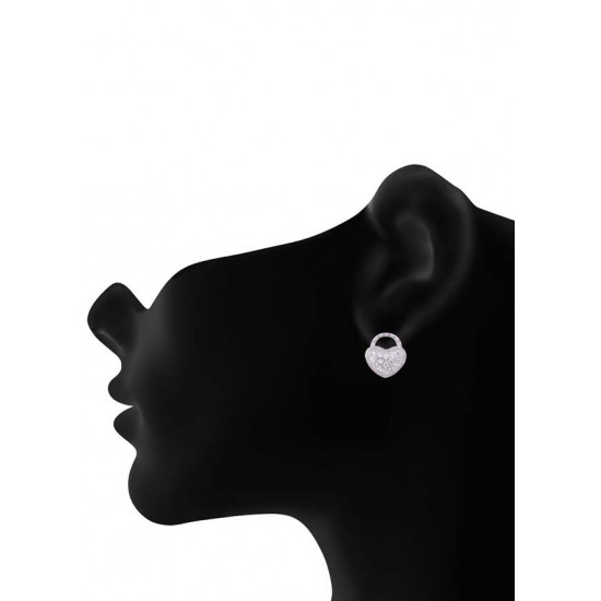 Pair of Cute Heart Shape Cubic Zircon Studs