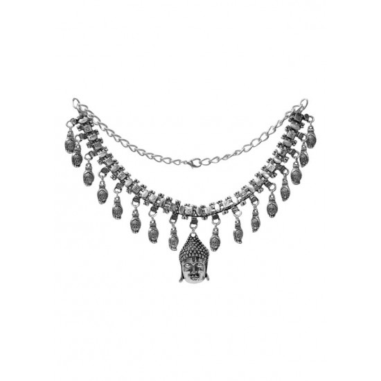 Designer and Spiritual Gauttam Budhha Necklace with Budhha as Center Piece for Girls and Women for Mother Bhabhi Sister Wife Friend Birthday Anniversary Stylish gift