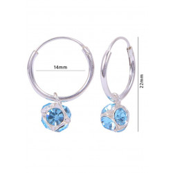 14 mm Hoops with Sky Blue color ball