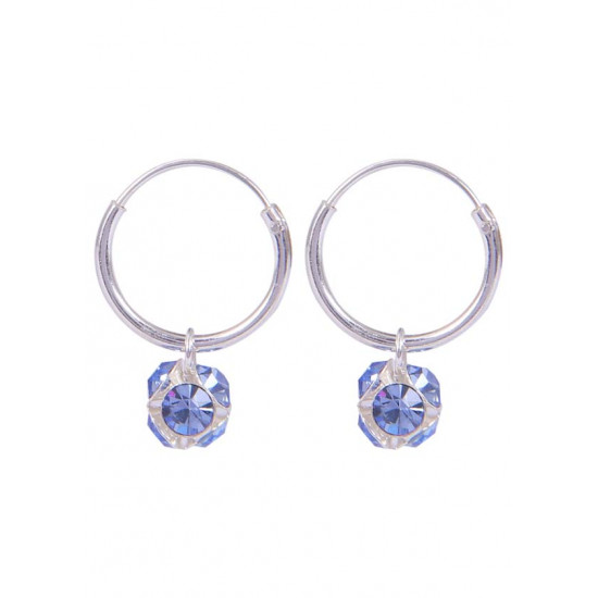 14 mm Hoops with Baby Blue color ball