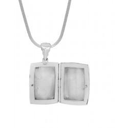 92.5 Sterling Silver Love Photo Locket pendant with silver chain for Best Valentine Gift for her Girls Boys Men Women. Girlfriend Boyfriend special
