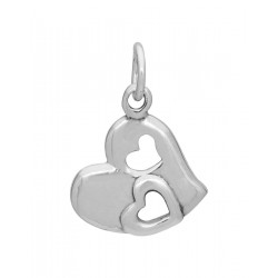 92.5 Sterling Silver Designer Heart Shape Love pendant with silver chain for Best Valentine Gift for her Girls Boys Men Women. Girlfriend Boyfriend special