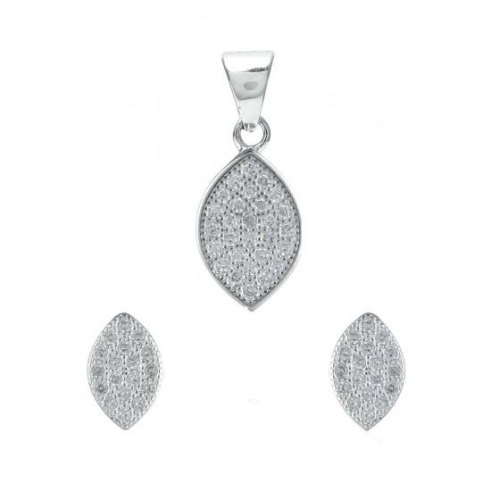Abhooshan Adorable Cz Pendant Set in 925 Silver