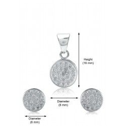 Abhooshan Beautiful and small Cz Pendant Set in 925 Silver