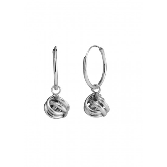 Sterling Silver Twisted Knot Drop Earrings in 12MM HOOPS  for Kids, Girls and Women Anniversary Birthday Gift for Friends Girls Sister Wife Mother Collegue