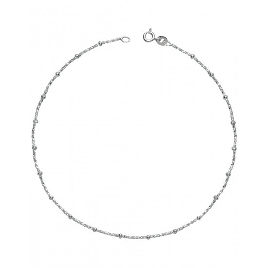 92.5 Sterling Silver Good looking Single Anklet
