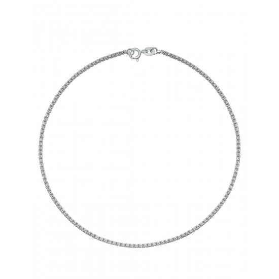 Pretty Pure 92.5 Sterling Silver Single Payal Anklet for Girls and Women Stylish Ideal Gift for Mother Bhabhi Sister Wife Friend Rakhi Birthday Anniversary