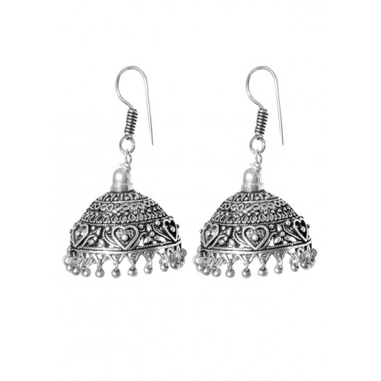 Stunning BIG Jhumkas in Silver Alloy High Finish for Women and Girls Stylish Latest Tribal Boho Look Birthday Anniversary  Gift for Mother Bhabhi Wife Sister Friend