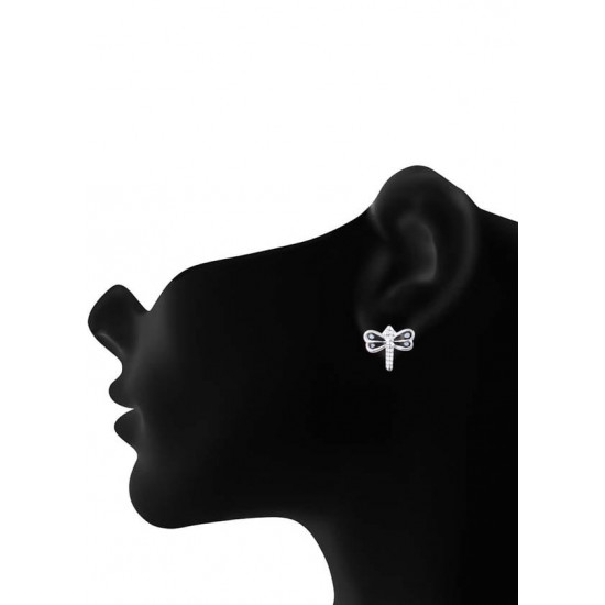 Elegant Enamel Small Butterfly Black Studs Pure 925 Sterling Silver Cute Earrings Kids Jewellery Allergy free Stylish. Latest Gift for Baby Girls Sister Kids Friend Children