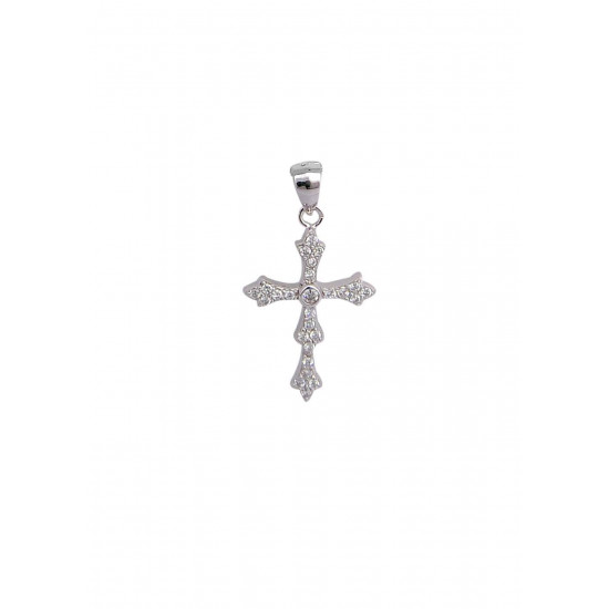 Holy Cross Pure 92.5 Sterling Silver Unisex Pendant with Cz Stones for Men Boys Women Girls. Gift for Husband Brother Son Wife SISTER children or friend for Birthday, Marriage Anniversary