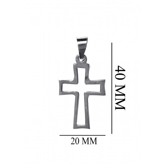 Stylish holy Cross Pendant with Fox Design Chain