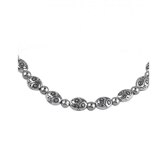Designer Bracelet in Silver Alloy for Girls and Women Gift for Mom Bhabhi Sister Wife