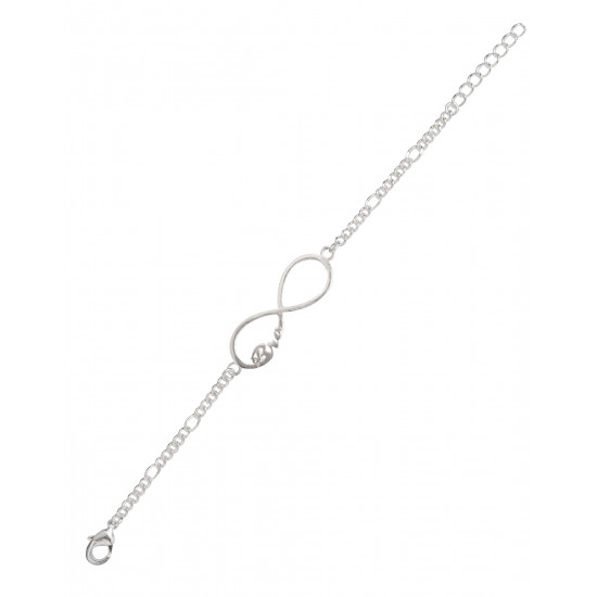 Silver Alloy Bro Infinity Bracelet for Friendship day Stylish and Latest Gift for Girls Boys Colleague Friend