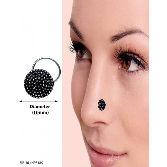 Combo Set of 4 Designer Antique Oxidized Silver Alloy Nose Pin Studs for Women and Girls Stylish with Piercing Nose. Latest and Stylish Gift for Mother Wife Sister Friend