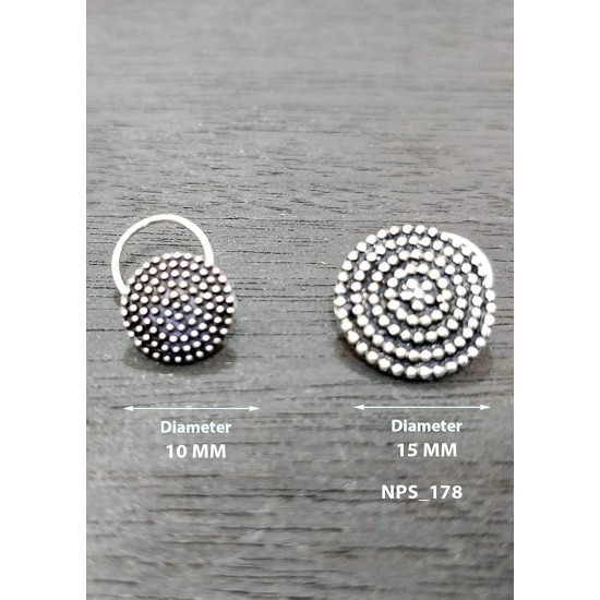 Designer and Tribal look Big Silver Alloy Nose pin for Women and Girls. Piercing required  Latest and Stylish Gift for friend Mother Wife Sister