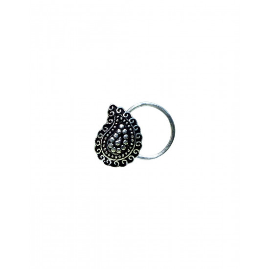 Rajasthani Traditionally Designed silver alloy nose pin for girls and woman.  Latest and Stylish Gift for Mother Wife Sister Friend