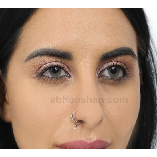 92.5 Sterling Silver Designer Nose Ring for Women and Girls. Multi Upper Piercing, Helix, Tragus, Septum, Cartilage and Lobe