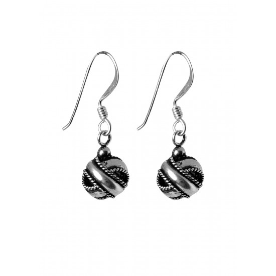 Oxidized Sterling Silver Twisted Knot Drop Earrings for Women Stylish Gift for Wife Sister Bhabhi Friend Marriage Anniversary