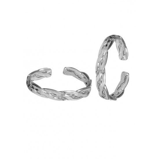 Pair of Beautiful Toe Rings Bichiya pure 925 Sterling Silver Adjustable Toe Rings for Gift Women and Girls Mom Bhabhi Sister Wife