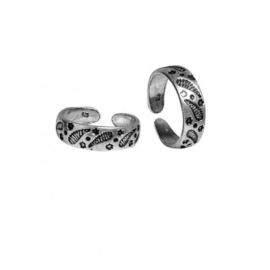 Unique pair of Oxidized Silver Toe Rings Bichiya pure 925 Sterling Silver Adjustable Toe Rings for Gift Women and Girls Mom Bhabhi Sister Wife